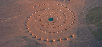 沙漠裡巨大圖案