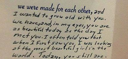 這名88歲老人家寫的生日卡片在網路上被瘋狂地分享。你看了就知道為什麼了。