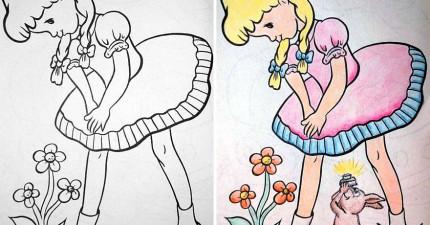 如果你讓大人畫兒童的著色書,這就是會發生的黃色事情。