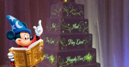 迪士尼發明了史上最酷的婚禮動畫蛋糕!當你切一塊下來時,會有一個意想不到的驚喜!