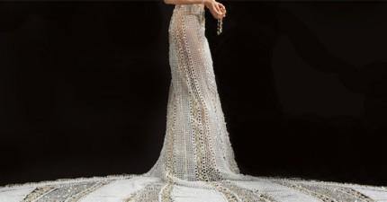 181公斤的婚紗