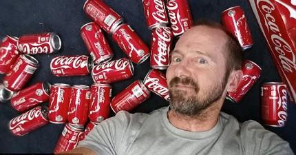 健美男子挑戰一個月內每天喝10罐可樂,最後下場不太好...
