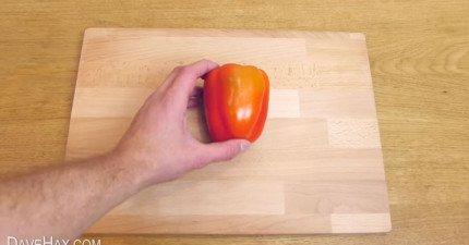 大自然要我們怎麼切青椒才正確?學會這招以後就不會亂切了!