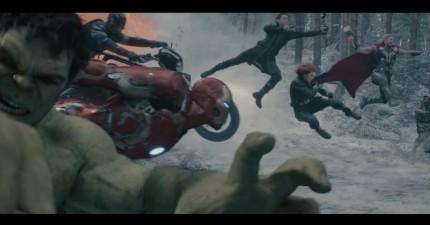 最新釋出《復仇者聯盟》預告,巨型鋼鐵人跟浩克互毆到大樓都要炸掉了。