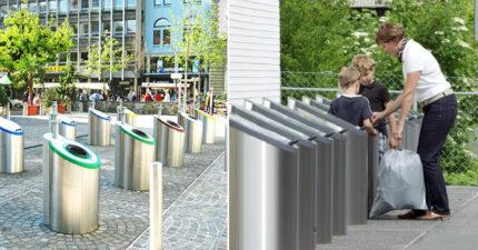 一直丟都不會滿出來!瑞士想出高科技「無底洞垃圾桶」 路過也沒臭味