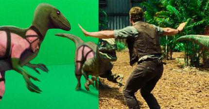 這才是恐龍的真面目!32張讓你再也回不去的「電影特效前後照」