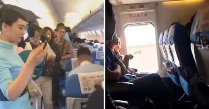 奧客女坐飛機「硬打開逃生門」全機誤點一小時 她超厚臉皮:想透透氣