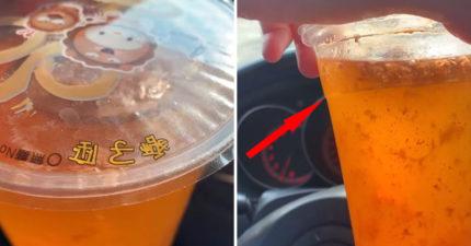 網友實測「奶茶放24小時」的前後變化 他打開驚見「超衝擊畫面」超噁心!