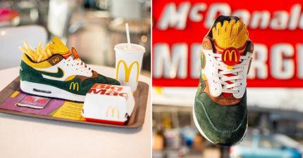 麥當勞專屬「聯名復古球鞋」 美式配色「大薯鞋舌」網瘋找代購!