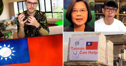 國際網紅「大讚台灣」小英跟國旗都入鏡:第一個擊敗武肺國家!
