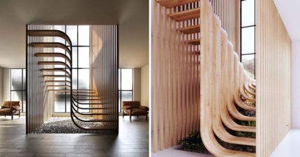 設計師做出「DNA階梯」靠側面「心機設計」漂浮在空中