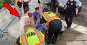 婚禮中途遇車禍!護士新娘「穿婚紗救人」被讚翻:最美的天使