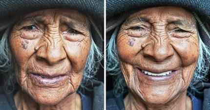 不知道怎麼笑...攝影師捕捉17位女人聽見「妳好美」的瞬間