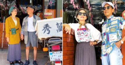80歲洗衣店老夫妻穿「客人不要的衣服」拍穿搭 狂吸2萬粉絲!