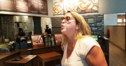 狂女「拒戴口罩」大鬧早餐店!跳針嗆:褲子也不能「阻擋屁味」啊