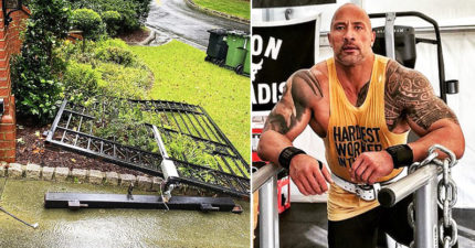 巨石強森為了上班「徒手拆了自家鐵門」!保鑣全嚇傻:只用了單手
