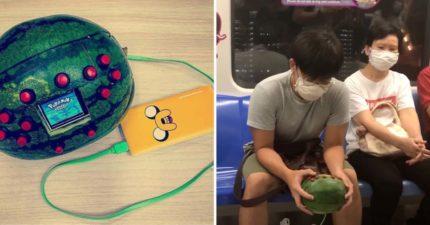 男大生自製「西瓜遊戲機」  搭地鐵害乘客嚇歪:救命有炸彈!