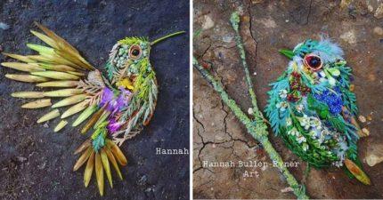 神手媽製「短時效性」絕美小鳥藝術品...做完就讓他「飛走」!