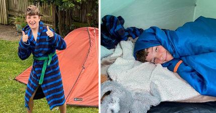 好友離開人間說「答應我,在這冒險」 10歲童「睡帳篷200天」募百萬元