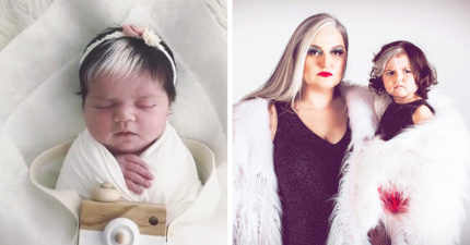出生就有「仙氣白瀏海」 跟媽媽神還原「迪士尼反派」網驚:最美基因!
