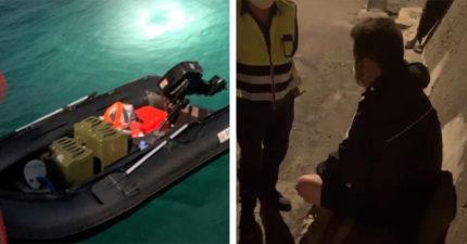 「開橡皮艇11小時」偷渡來台 福建男稱「投奔自由」:淘寶買來的