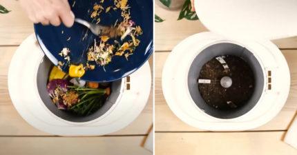懶人專用!廚餘機「按一鍵即變肥料」 連「塑膠製品」也能吃下去